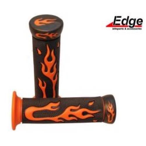 handvaten scooter brommer zwart orange vlammen