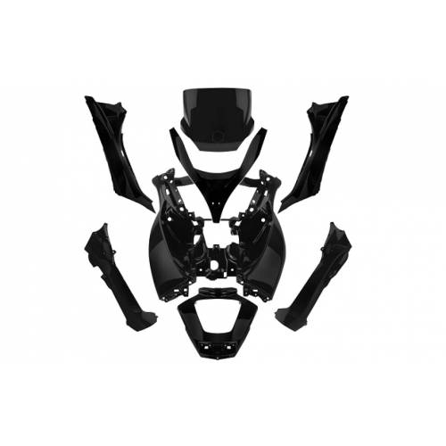 Kappenset Piaggio MP3 zwart 125 - 500cc