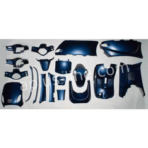 Kappenset Look a like / retro scooter - Mat blauw (MAX BLUE)