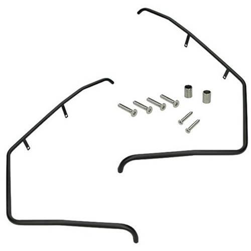 Valbeugels Piaggio Zip voorkant - (mat Zwart)