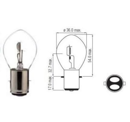 Lamp 12V-35/35W Ba20D