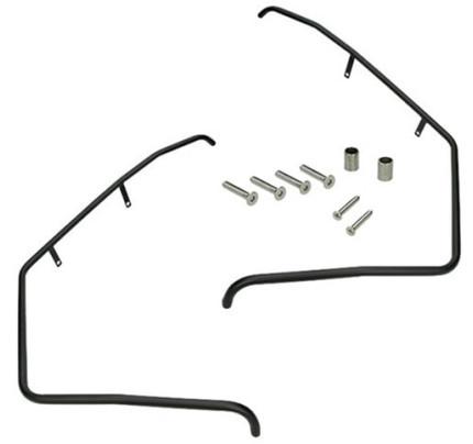 Valbeugels Piaggio Zip voorkant - (glans Zwart)